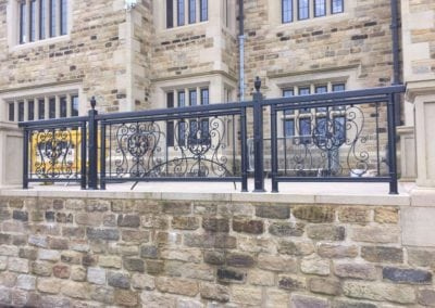 Wrought Iron Railings for New Mansion in Lancashire 4