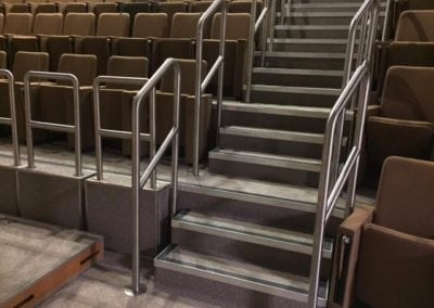 Stainless Steel Handrails Grade II Listed Building Unilever House London EC1 3
