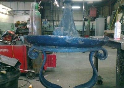 Priory Park Gates Refurbishment Lantern