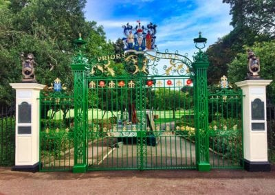 Refurbishment of Priory Park Gates, Southend-on-Sea, Essex