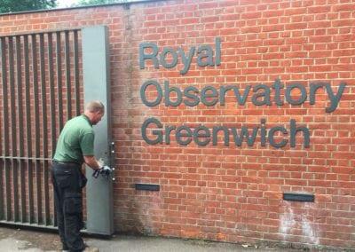 Royal Observatory Gates Inspection