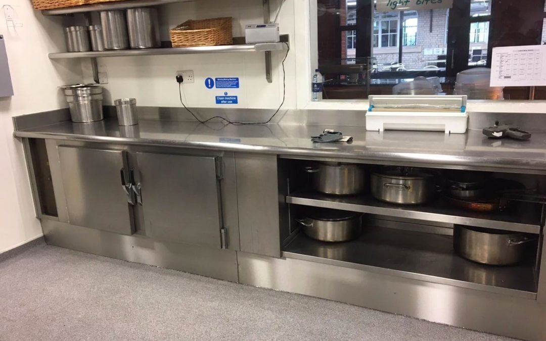 Stainless Steel Kitchen Plinths for Bancroft's School, Woodford Green, Essex