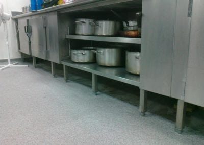 Stainless Steel Kitchen Plinths for Bancroft's School, Woodford Green, Essex 3