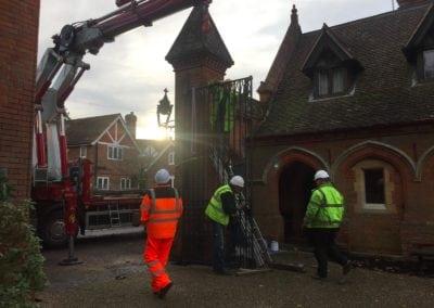 Grade II Listed Gates Refurbishment in Berkshire 10