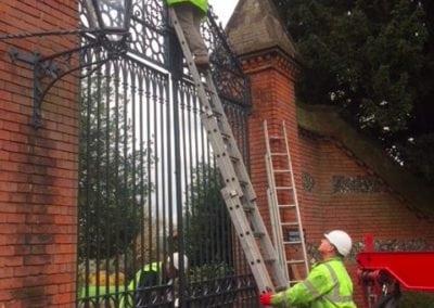 Grade II Listed Gates Refurbishment in Berkshire 12