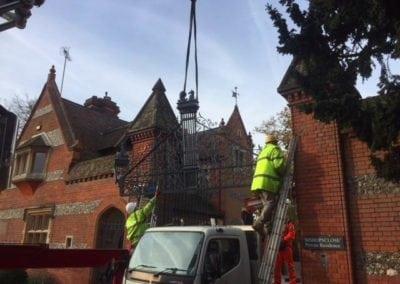 Grade II Listed Gates Refurbishment in Berkshire 13