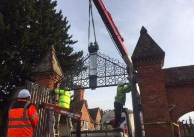 Grade II Listed Gates Refurbishment in Berkshire 14