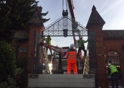 Grade II Listed Gates Refurbishment in Berkshire 15
