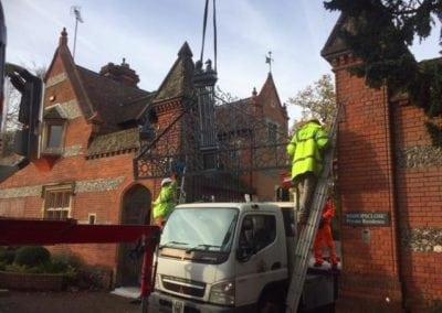 Grade II Listed Gates Refurbishment in Berkshire 16