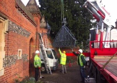 Grade II Listed Gates Refurbishment in Berkshire 17