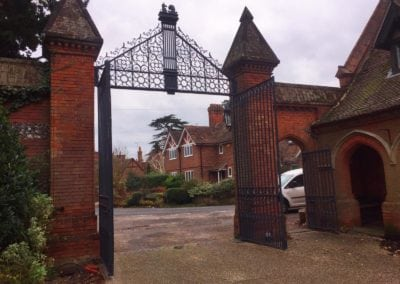 Grade II Listed Gates Refurbishment in Berkshire 2