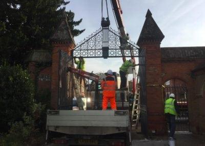 Grade II Listed Gates Refurbishment in Berkshire 3