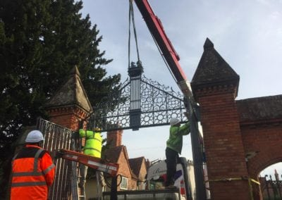 Grade II Listed Gates Refurbishment in Berkshire 4