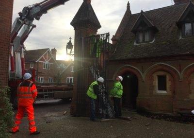 Grade II Listed Gates Refurbishment in Berkshire 7