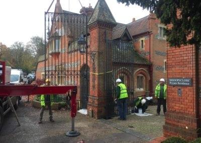Grade II Listed Gates Refurbishment in Berkshire 8