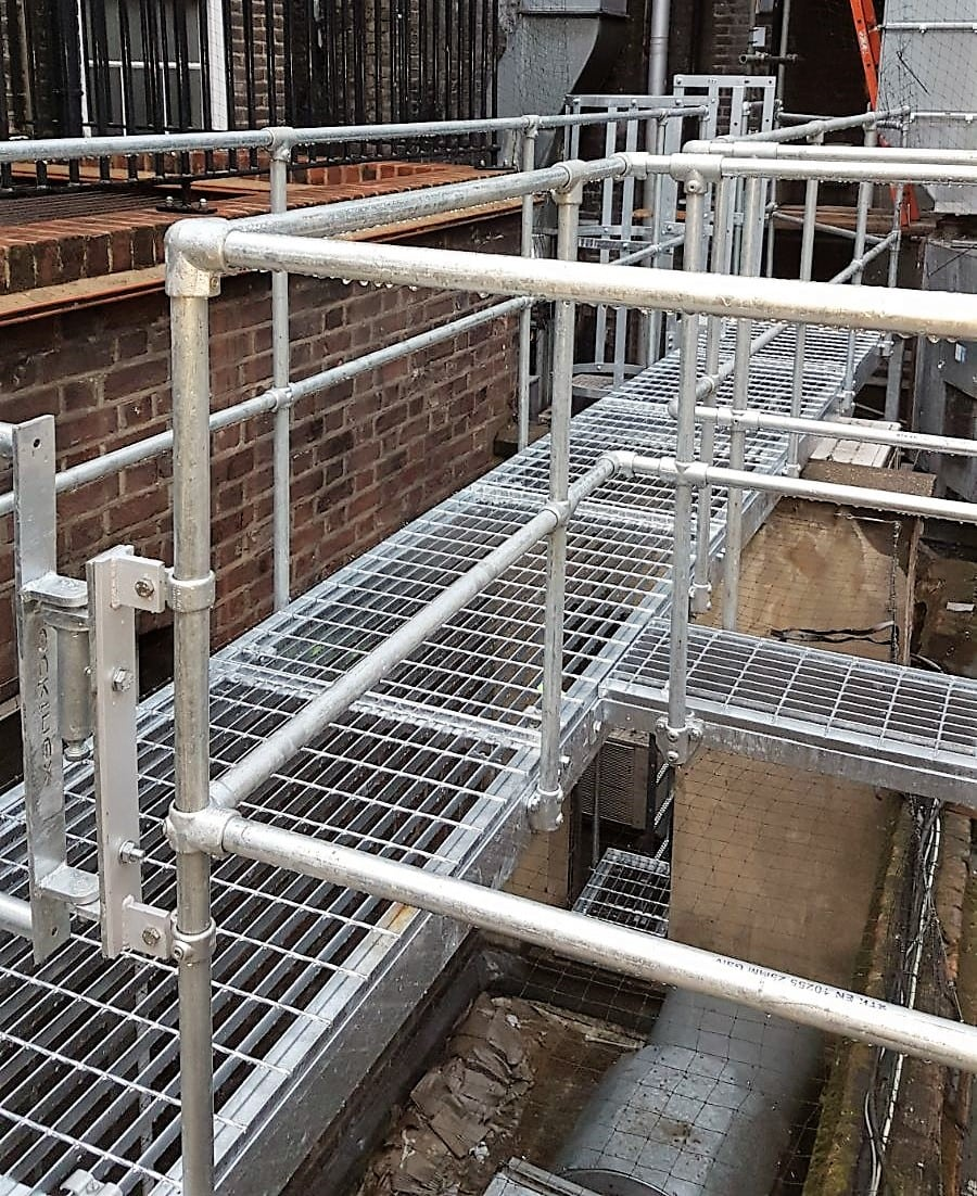 Metal Platforms Amp Roof Walkways Metal Fabrication London