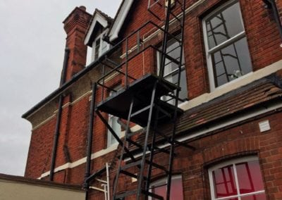 Fire Escape Repairs, Brentwood School, Essex CM15 2