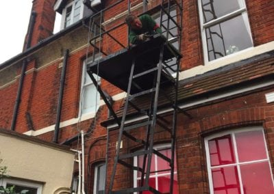 Fire Escape Repairs, Brentwood School, Essex CM15 4