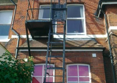 Fire Escape Repairs, Brentwood School, Essex CM15 7