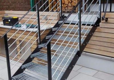 Garden Metal Staircase Fabrication, London NW6 2