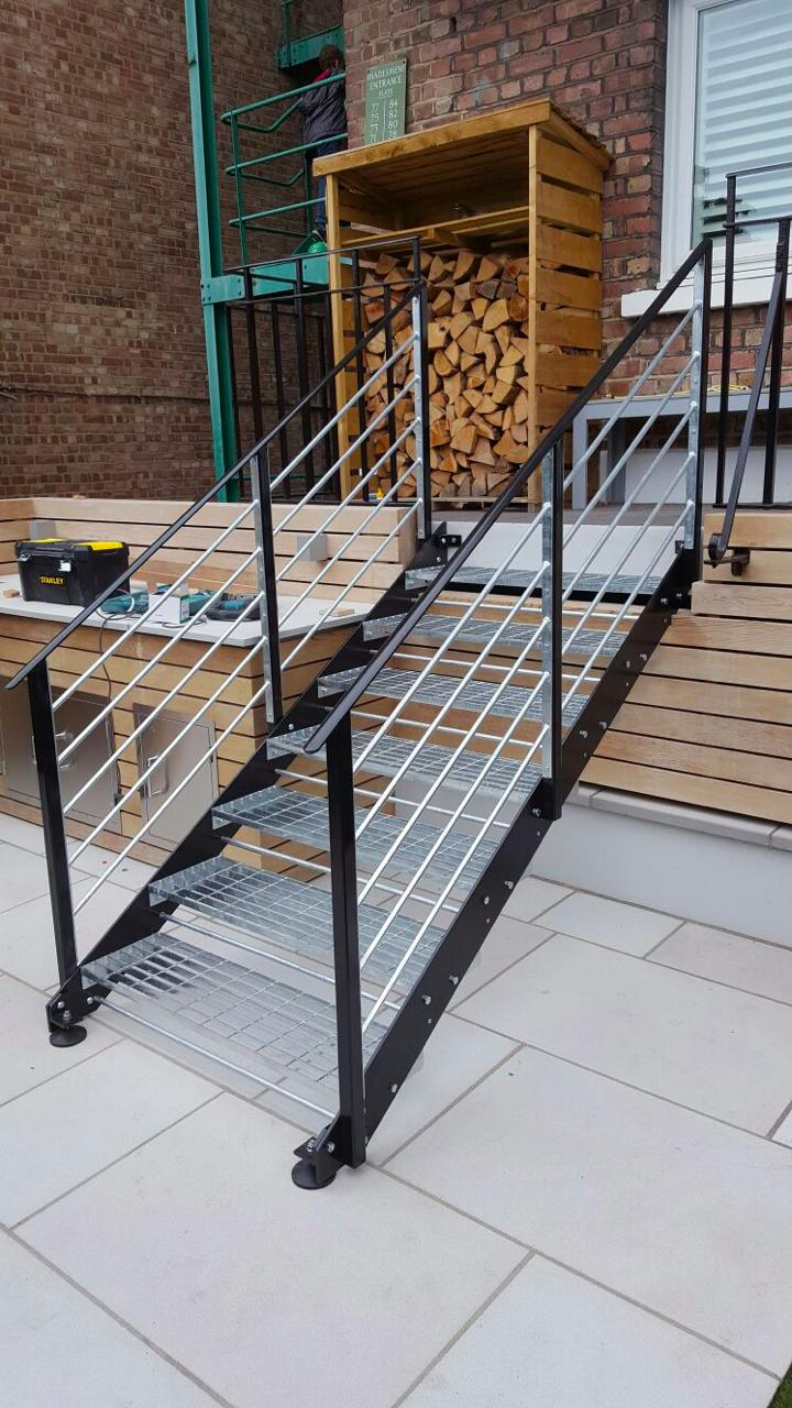 Lovely Garden Metal Staircase Fabrication, London NW6 2