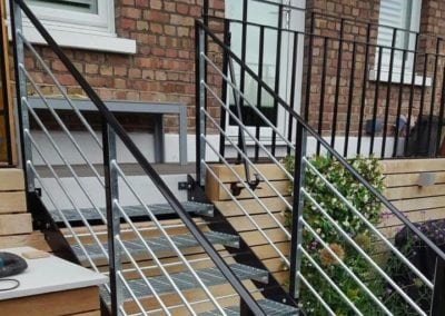 Garden Metal Staircase Fabrication, London NW6