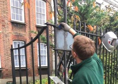 Metal Gate Repairs Grade II Listed 18th Century Property, Wanstead, London E11 4