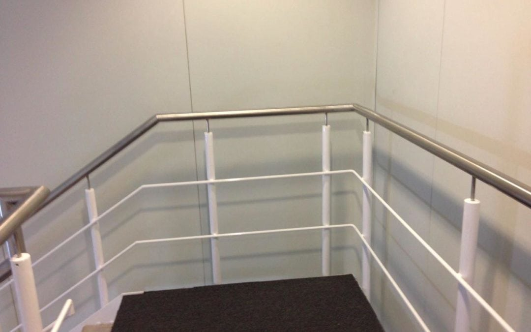 New Section of Stainless Steel Handrail Fabricated, Beckton London E6