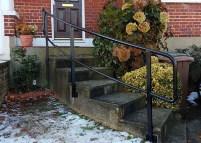New handrail for front garden steps, Chingford, London E4