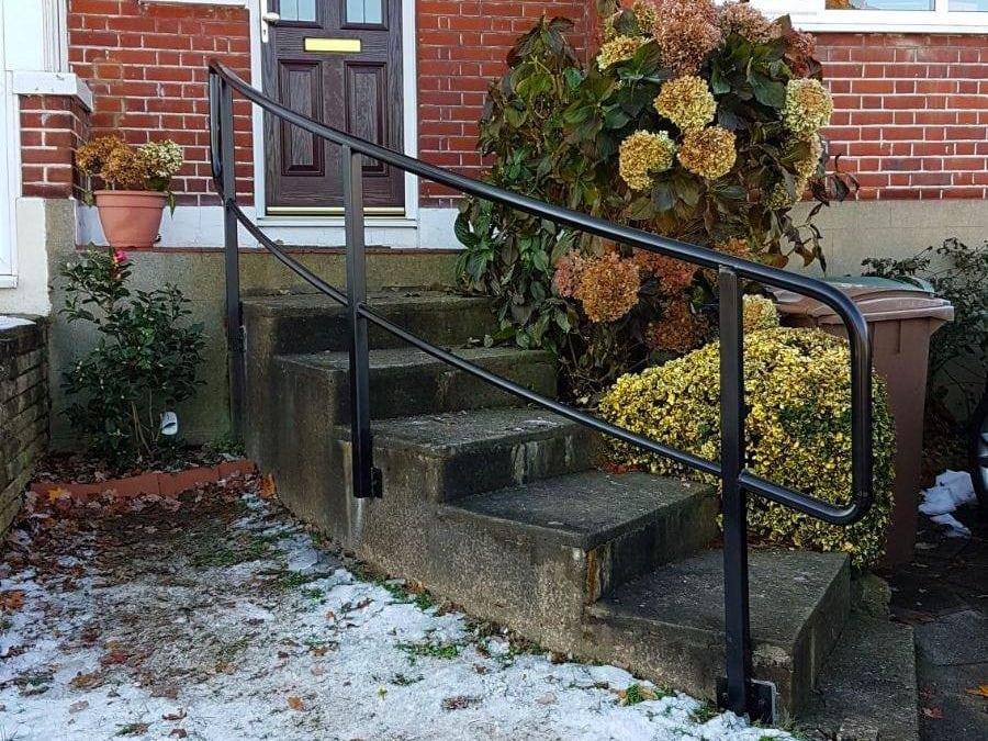 New handrail for front garden steps, Chingford, London E4