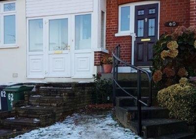 New handrail for front garden steps, Chingford, London E4 2