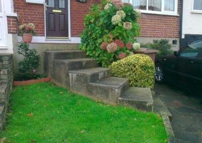 New handrail for front garden steps, Chingford, London E4 3