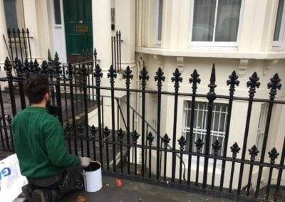 Railing Repair, Replacement of Missing Finials, Chelsea London SW5