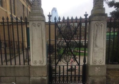 Gate Repairs, Church of St John with All Staints, Lambeth, London SE1 2