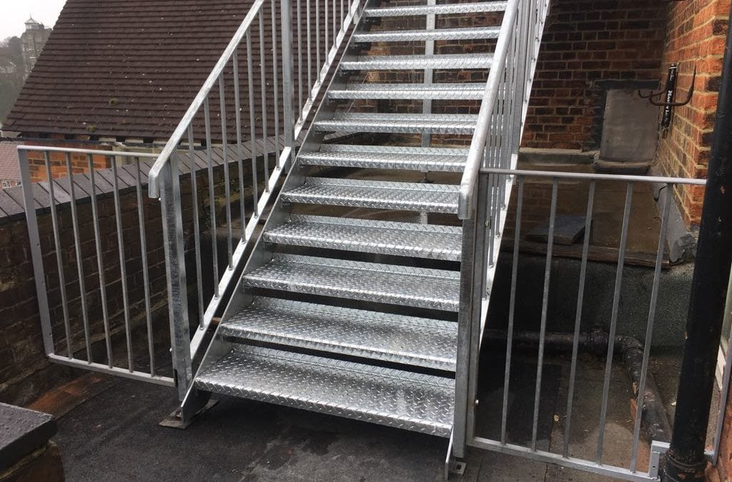 New Metal Staircase for St. Peter's Primary School, Folkestone, Kent