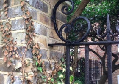 Railing Repairs, Stepney Green, London E1