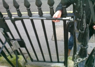 Repair of Gate leading to Basement Kitchen Area, the Royal Society, London SW1 2