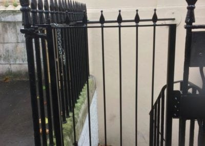 Repair of Gate leading to Basement Kitchen Area, the Royal Society, London SW1 4