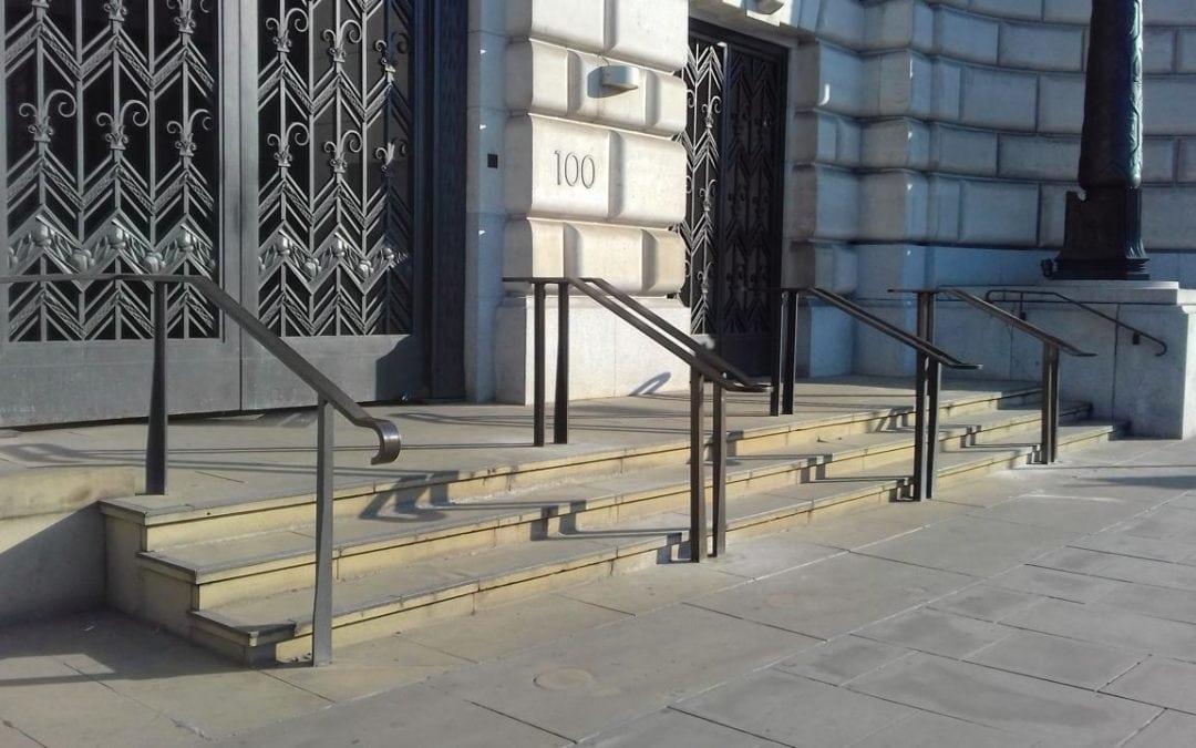 Bespoke Heritage Entrance Handrails, Unilever House