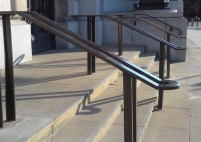 Bespoke Heritage Entrance Handrails, Unilever House 2