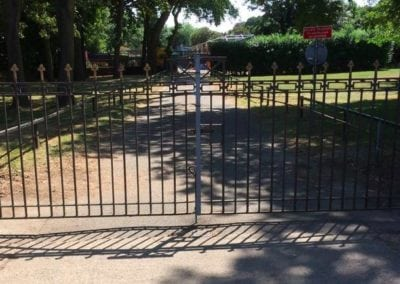 Gate Repairs Priory Park Works Yard Gates