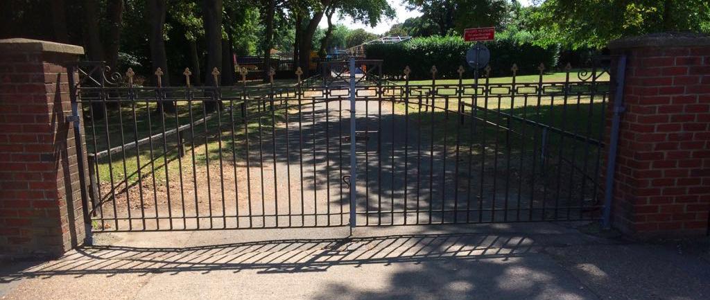 Gate Repairs Priory Park Works Yard Gates