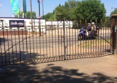 Gates Repairs Priory Park Works Yard Gates 2