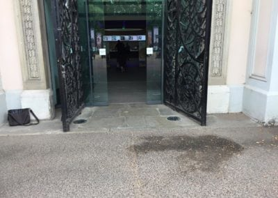 Inspection of the Ornate Metal Gates at the National Maritime Museum 1