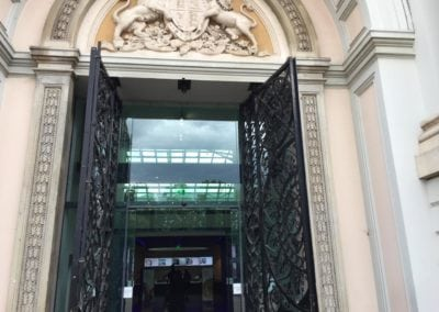 Inspection of the Ornate Metal Gates at the National Maritime Museum 3