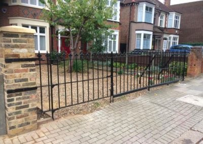Repair of Gate Leaf and Small Railing Section, Barnet, Herts EN5 1