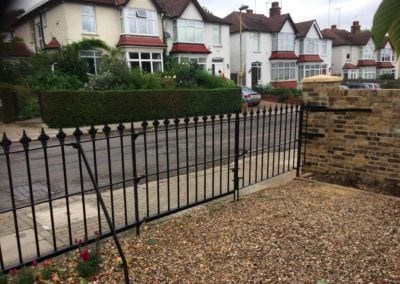 Repair of Gate Leaf and Small Railing Section, Barnet, Herts EN5 4