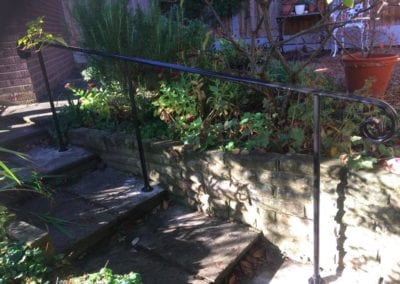 New Handrail for Garden Steps, Epping, Essex 2