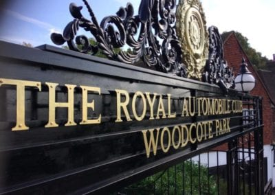 Re-painting of the Entrance at The RAC Club, Woodcote Park, Epsom, Surrey 3
