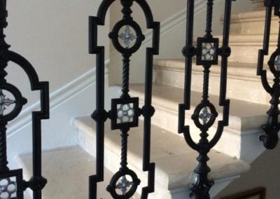 Replacing Missing Balustrade Panel, Kensington, London W8 2